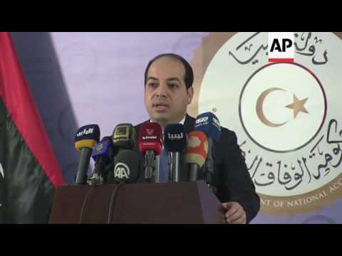 Libyan deputy PM briefing after buildings seized