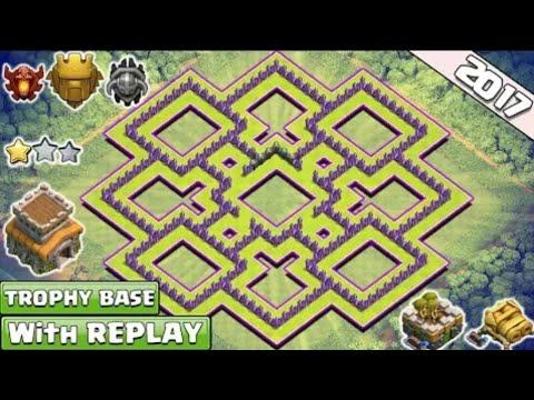 Hướng dẫn xây nhà clash of clans hall 8 thủ cực tốt