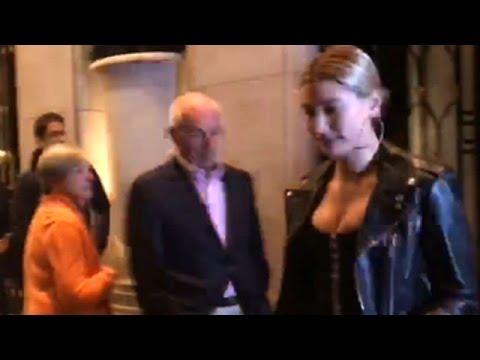 Kourtney Kardashian Looks Like A Queen In Black Leather Trench ...