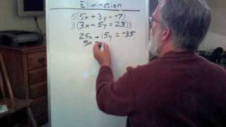 Solving Two Equations by Elimination