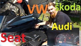 Houpání Volnoběhu VW Seat Audi Škoda :) BEZ KOMPRESE (: Manuál