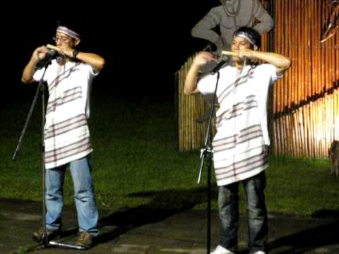 Aboriginal bamboo musical instrument