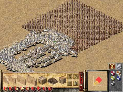 stronghold crusader: 1000 knights vs 1000 cross bow
