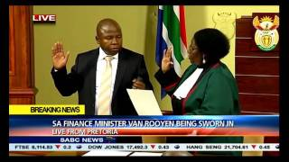 [BREAKING NEWS] David van Rooyen sworn in as Minister of Finance