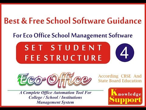 4. Set Student Fee Structure in Eco Office School Management software