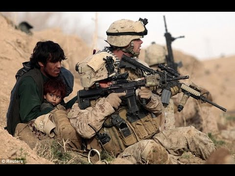 US Marine Sniper Shooting on Taliban Position Amazing !