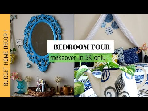 Bedroom Tour 2019 | Small Budget Bedroom Makeover | Rented Home Decor