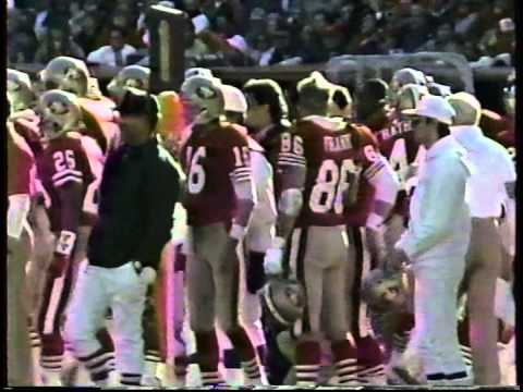 Cofer fair catch kick, 49ers-Vikings, 1988 Playoffs