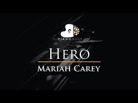 Hero - Mariah Carey - Piano Karaoke / Sing Along Cover With Lyrics