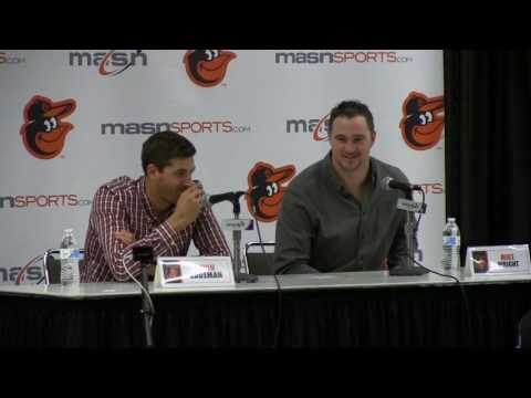 Kids Press Conference: Kevin Gausman and Mike Wright