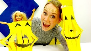 Украшения на Хэллоуин - Барби делает тыквы своими руками