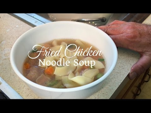 HD How to Make Fried Chicken Noodle Soup