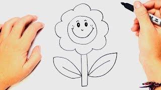 Cómo dibujar un Flor Muy Fácil