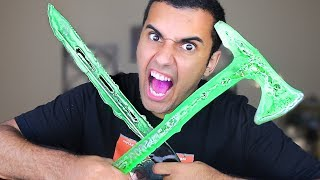 DIY WORLD'S MOST DANGEROUS CANDY!!! KATANA  / TOMAHAWK / ARROWS!! *INSANLY DANGEROUS*
