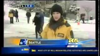 Seattle Sledder Confronts Reporter on Live TV