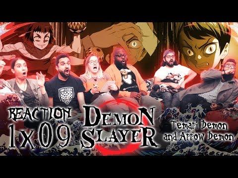 Demon Slayer - 1x9 Temari Demon And Arrow Demon - Group Reaction