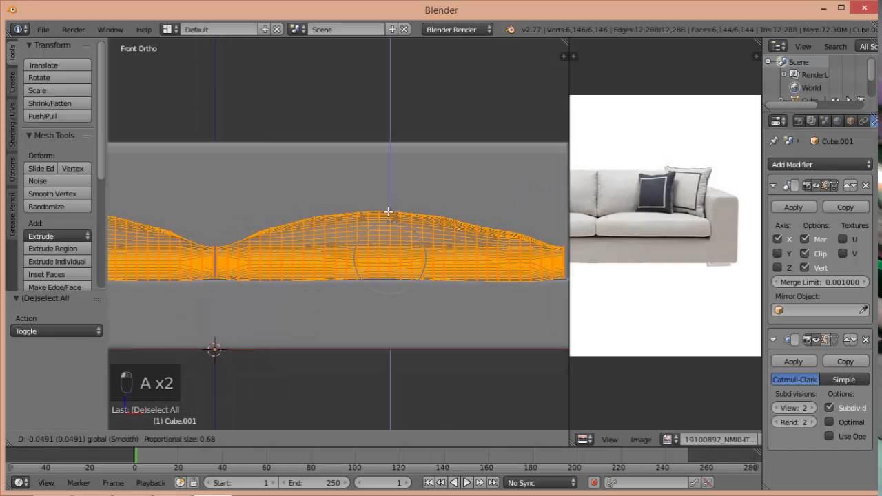 Blender Tutorial Sofa YouTube