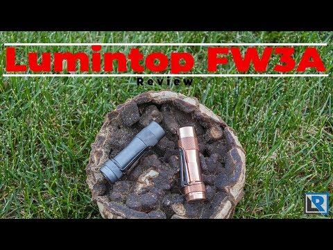 Lumintop FW3A Review (Triple LED 18680 EDC light) BLF Designed