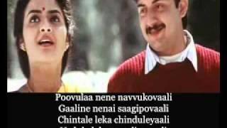 Chinni Chinni Aasa::Telugu Karaoke::Manirathnam's Roja
