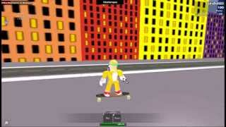 Me skating to the city in ROBLOX