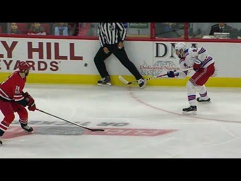 Scott Darling FAIL (Zibanejad center ice goal) | 11/22/2017 [Dual Feed]