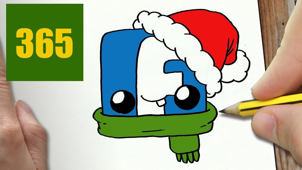 Comment Dessiner Logo De Noël Facebook Kawaii étape Par étape Dessins Kawaii Facile