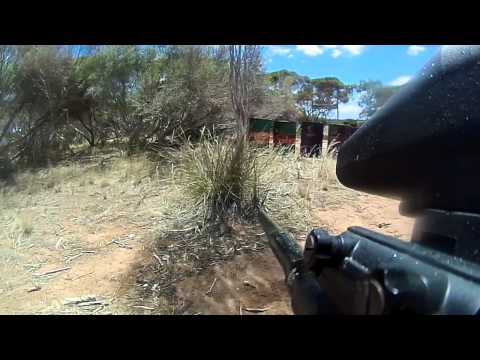 Paintball GunCam Alien Defense game SABRE Paintball 050212