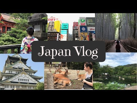 Japan Vlog | Kyoto, Nara, Arashiyama, Osaka | Summer Holiday