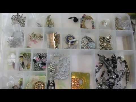 2015 Art Room Tour: Storing Jewelry Making Supplies & My Handmade Jewelry