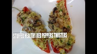 Stuffed  Healthy  Red  Peppers Twisters Episode #32