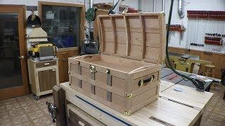 Finishing up the Steamer Trunk. Might have to upgrade the house to find room for it.