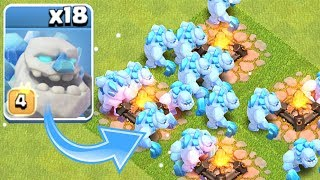 "ALL ICE GOLEM RAID!""Clash Of Clans"" NEW TROOP!"