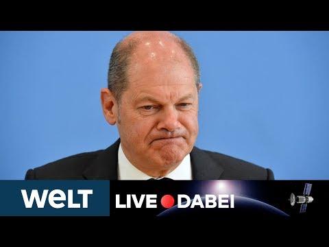 CORONA-KRACH: Olaf Scholz zum EU-Streit über Covid-19-Rettungspaket und Wirtschaftsprognose