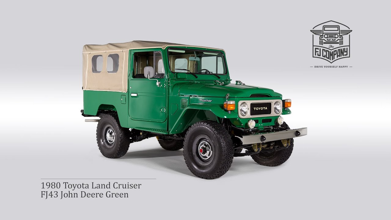 Toyota Land Cruiser Hd Wallpaper 1980 Toyota Land Cruiser Fj43 John Deere Green Restoration