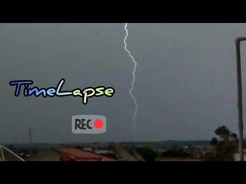 Tempestade Com Raios (TIMELAPSE) Temporal Em Palmeira Dos Índios Alagoas Brasil 22/01/2020 Trovões.