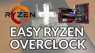 Easy Ryzen Overclock Guide: Ryzen 5 1600 OC Settings | AB350-Gaming Motherboard