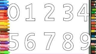 Pagina di colorazione numeri | Come disegnare e colora per i bambini