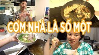 Chuẩn cơm mẹ nấu #5 / Thịt nọng heo nướng Thái, canh khoai sọ / Mua thịt tươi qua App? // Dinology