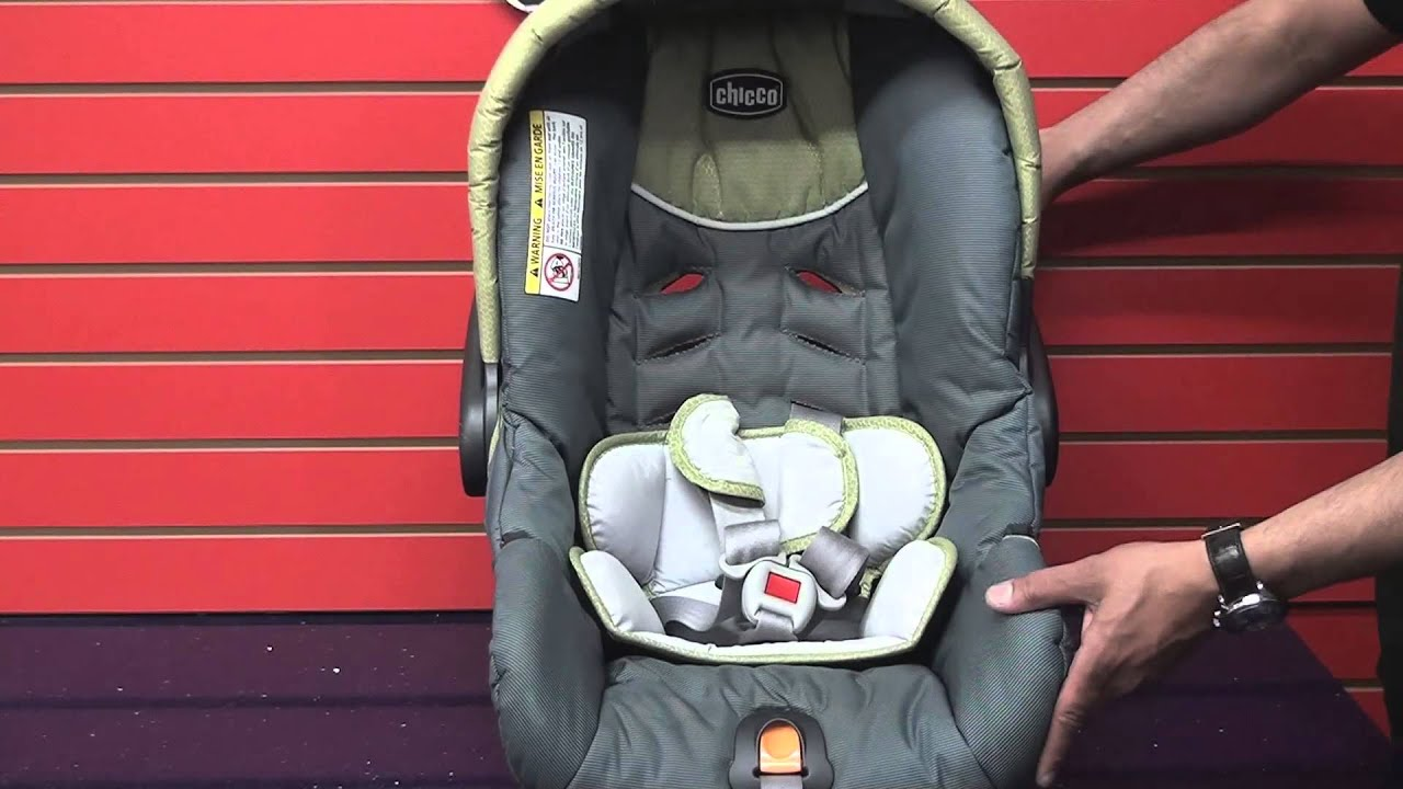 Chicco Keyfit - Adjusting Car Seat Harness Straps - YouTube