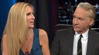 bill maher grills ann coulter on immigration
