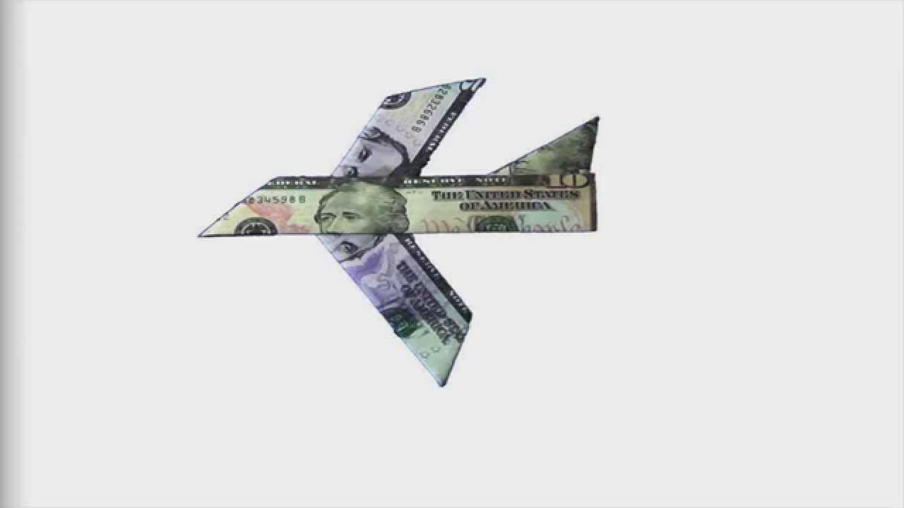 How To Fold An Easy To Fold Money Origami Plane Design Youtube
