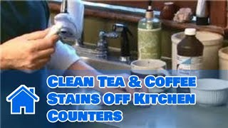 Kitchen Cleaning : How to Clean Tea & Coffee Stains Off Kitchen Counters