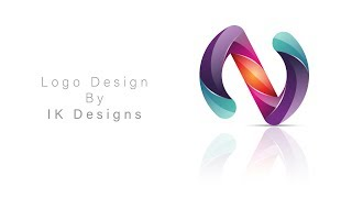 Create 3D-logo-letter-N, die in adobe illustrator