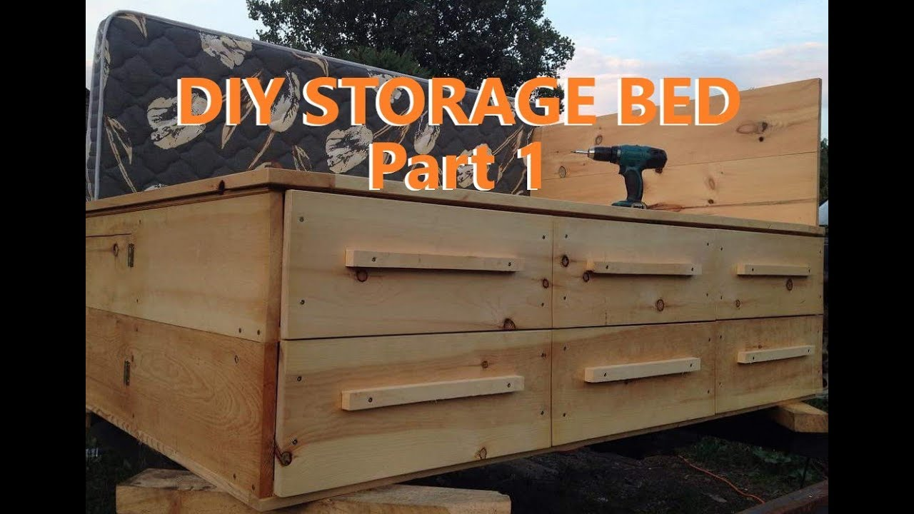 Homemade Storage Bed Captain S