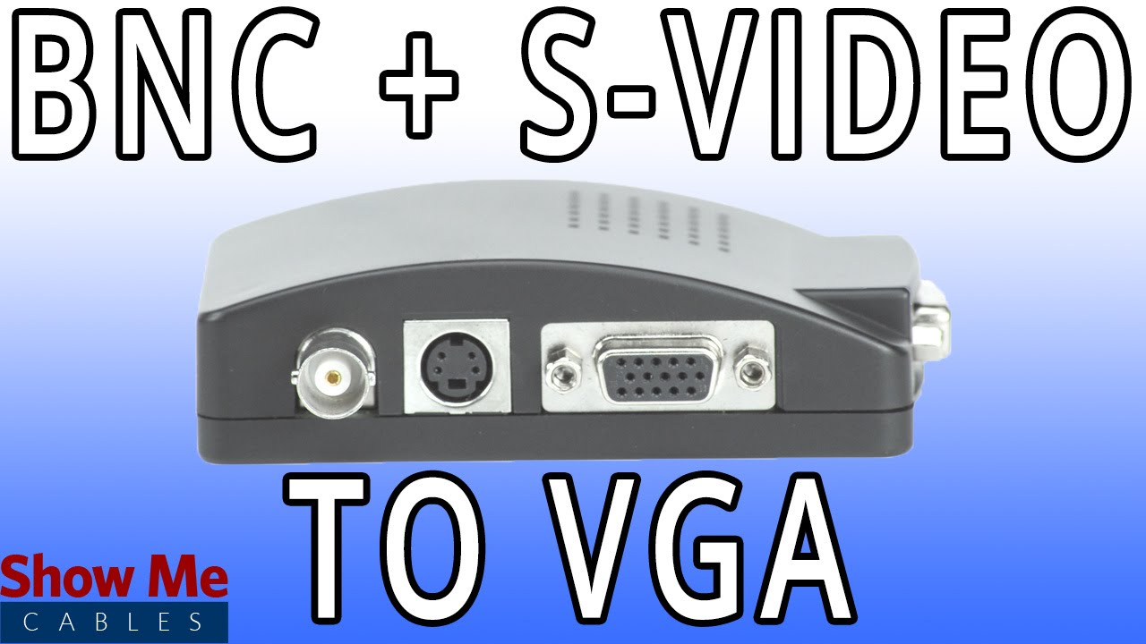 Bnc S Video To Vga Converter Quickly Change Signals 47 Adapter 300 008