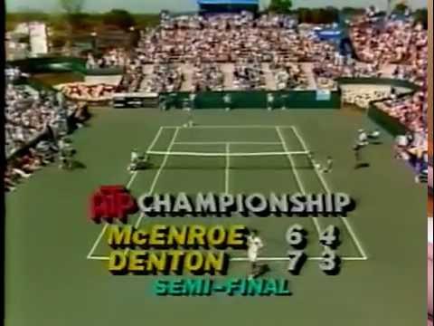 Steve Denton vs McEnroe Semi Final - Ohio 1982