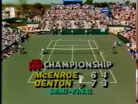 Steve Denton vs McEnroe Semi Final - Ohio 1982