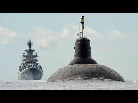 Today's largest Battlecruiser Pyotr Velikiy & Typhoon Submarine Dmitriy Donskoy