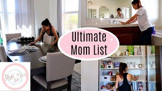 CLEAN WITH ME | ULTIMATE MOM LIST