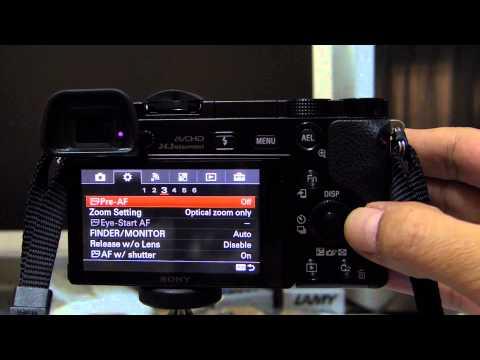How to Eye AF for Sony A6000 วิธีใช้ Eye AF Focus ของ Sony A6000